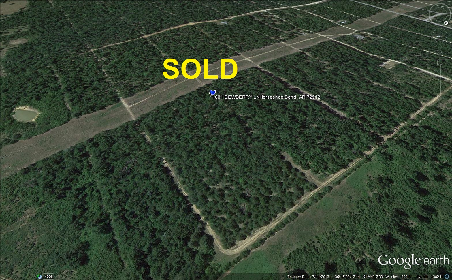 Vacation or Retirement Land for sale by owner in Horseshoe Bend Arkansas